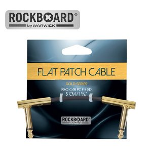 RockBoard 패치케이블 Flat Patch Cable - Gold (5cm)뮤직메카